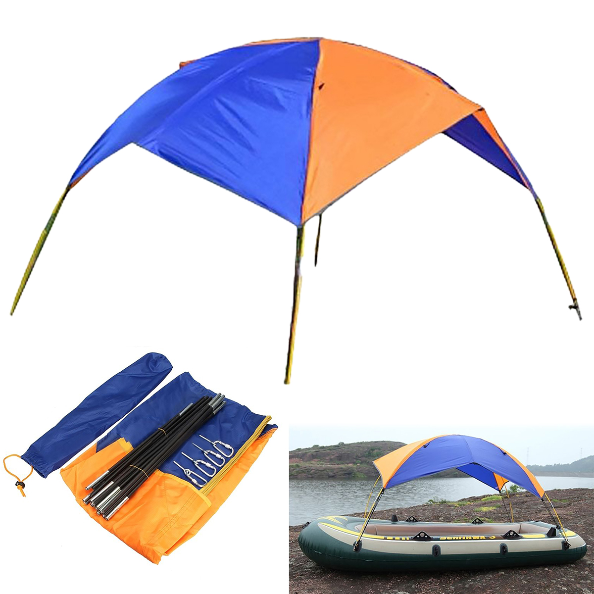 MAYITR Rubber Inflatable Boat Sun Shelter Fishing Tent for 2 Person Boat Awning Canopy Beach Camping Sunshade PVC Tent New ботинки мужские black awning boat 310