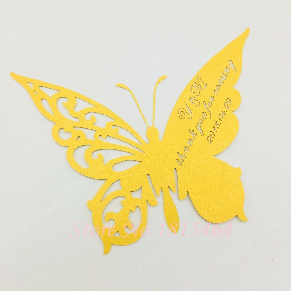 60pcs DIY Place Card butterfly Cups Glass Wine Customized Wedding Name  Cards Laser Cut Pearl Paper Card Birthday Party Decoratio|Cards &  Invitations| - AliExpress