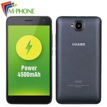 Оригинальный uhans H5000 мобильный телефон 5.0 дюймов 4 г Android 6.0 MTK6737 Quad Core 3 г Оперативная память 32 г Встроенная память Смартфон 4500 мАч батареи мобильного телефона