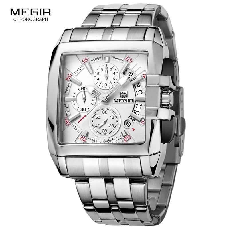 MEGIR hot fashion men's business quartz watches luxury stainless steel wristwatch for man luminous three eyes watch for male2018|wristwatch for men|wristwatch stainless steel|wristwatch mens - title=