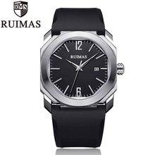Ruimas часы мужские роскошные брендовые кварцевые часы модные хронограф часы Reloj Hombre спортивные часы мужские часы Relogio Masculino