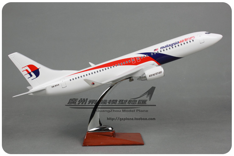 купить 47cm Resin Malaysia Airlines Airplane Model Boeing 737-800 Aircraft Model B737-800 Airways Airbus Model Aviation Model Toy Gift недорого