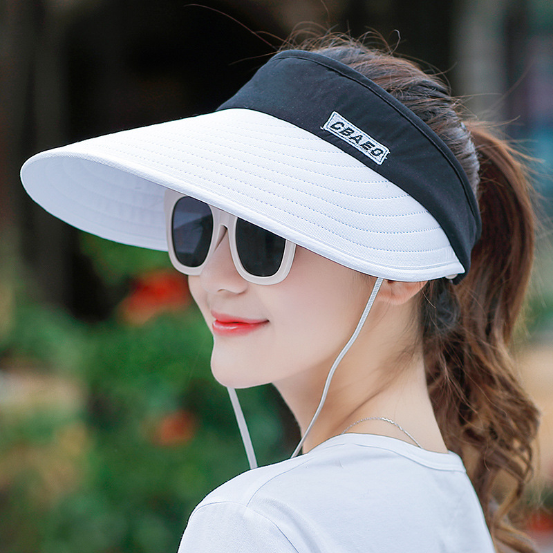 Big Heads Wide Brim Beach Hat Women Summer Sun Hats Women Pearl Sun Visor Hat UV protection female cap Wholesale in Women 39 s Sun Hats from Apparel Accessories