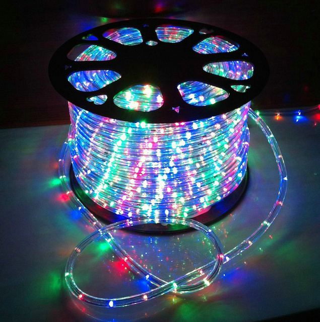 Christmas Led Strip Lights.Us 25 46 20 Off Led Rainbow Lamp Round Second Line Holiday Led Christmas Light Led Strip Flexible Light Waterproof 220v Eu Power Plug In Led Strips
