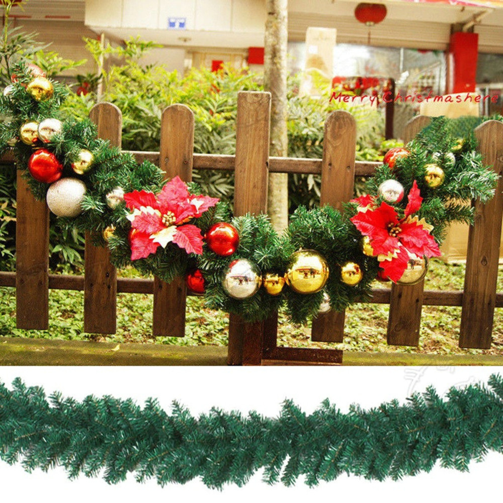 27m 160180 branches luxury christmas decorations mantel fireplace christmas garland pine tree rattan xmas tree ornaments m in pendant drop ornaments