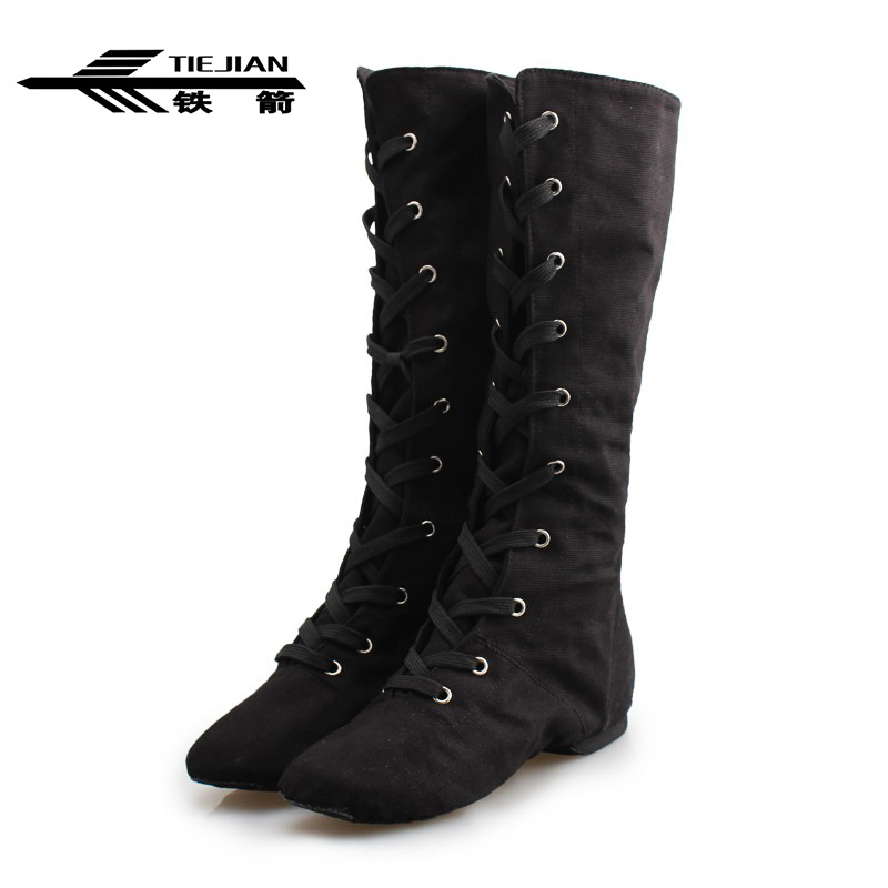 Gym Black Square Buckle Girls Boots