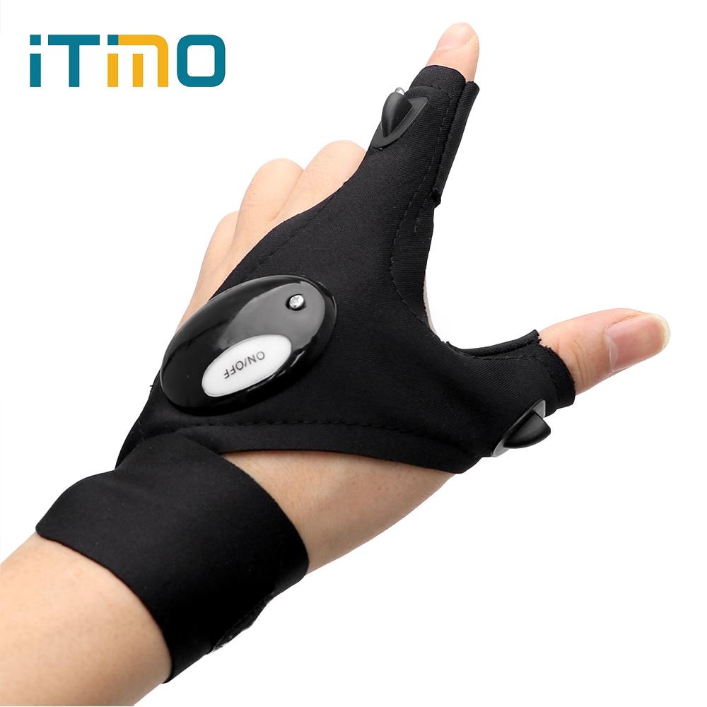 ITimo 1 Piece Finger Light LED Glove Flashlight Torch Novelty Lighting Mini Portable Light For Camping Hiking Fishing Repairing