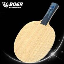 BOER ALC 7 warstw rakieta do tenisa stołowego z włókna węglowego łatwe sterowanie wysokiej klasy rakietka do ping ponga i lekka końcówka ciężki uchwyt Paddle Bat