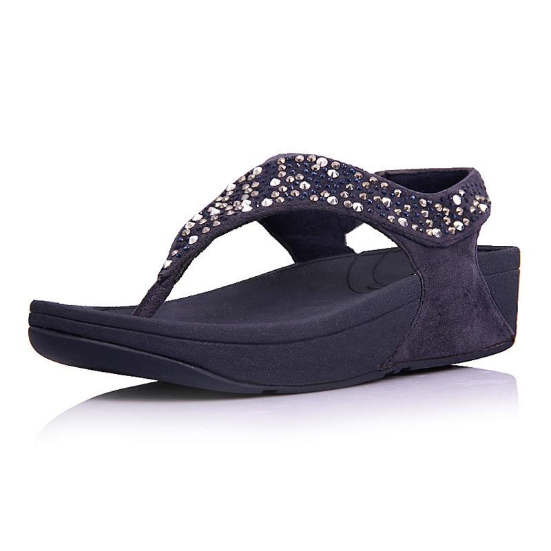 f47889d0579b32 Fashion Brand Womens Bling Platform Flat Flip Flops Sandals Comfortable  Rokkit Seisei Leisure Beach Sandals On Sale-in Women s Sandals from Shoes on  ...