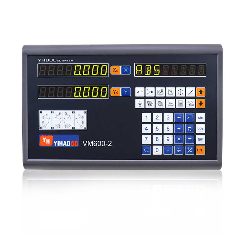 Linear Scales Dro Unit Digital Readout Set Kit with 2pcs 5U Linear Ruler Linear Encoders 400