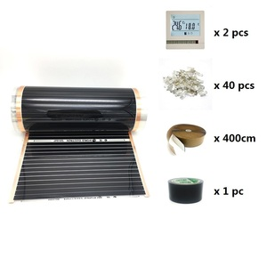 Image 2 - 20m2 Electric Heating Film 50cm 80cm 100cm Width Infrared Floor Heating Film with Wifi Room Thermostat
