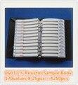 Бесплатная доставка 0603 SMD Резистор Книга Образца 1% 1/10 Вт 0R-10М 170valuesx25pcs = 4250 шт. Резистор Комплект 0R ~ 10 М 0R 1R-10М