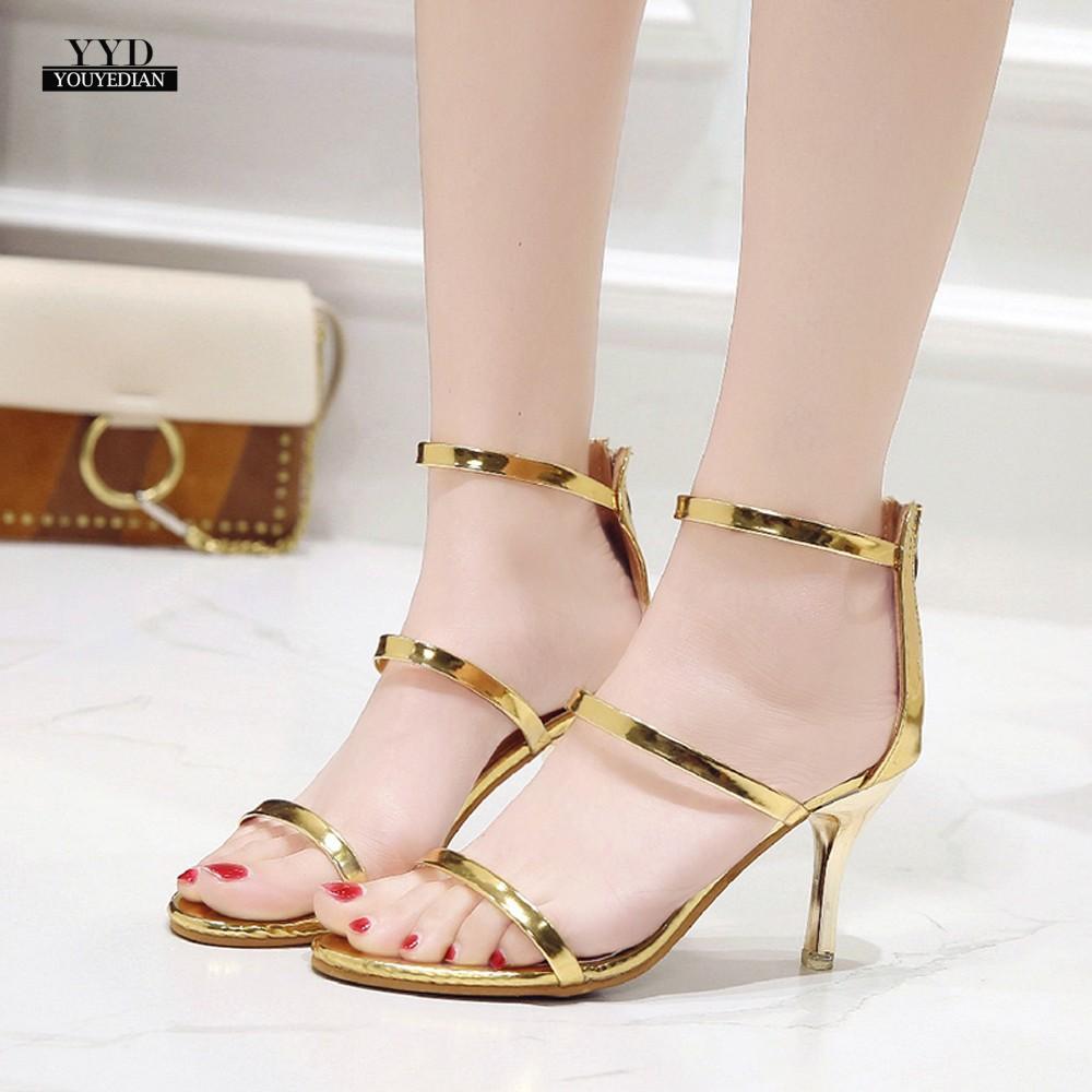 Fetish style high heel round-toed shoes