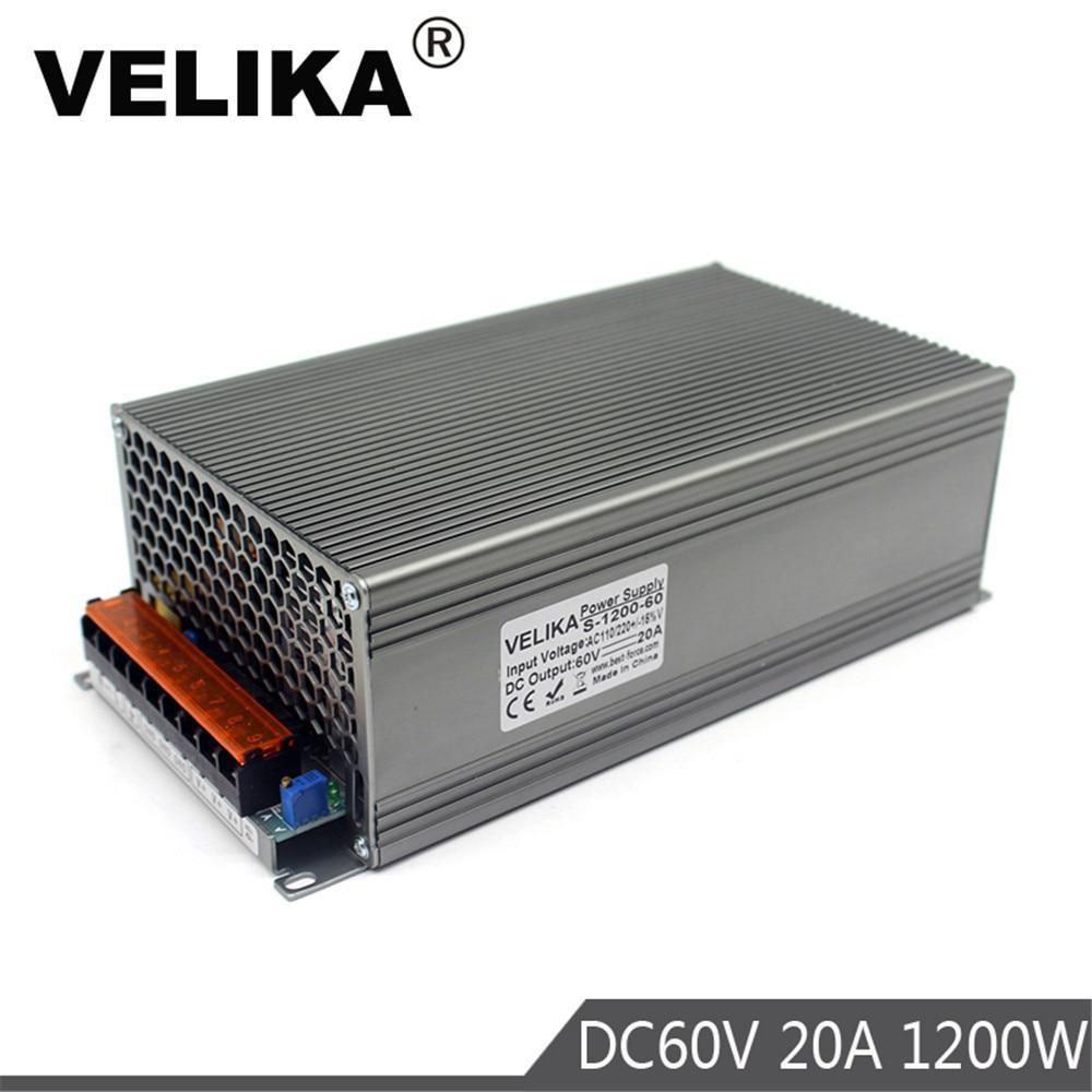 AC DC 60V Power Supplies Adapter AC110V 220V Transformer 20A DC60V 1200W LED Driver Switching Power