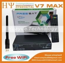 Genuino Receptor de Satélite Freesat V7 MAX HD Completo 1080 P HD + 1 UNID WiFi DVB-S2 Soporte Ccam powervu youpron Freesat V7 V8 de Oro HD