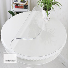 1.5mm Thick Round TableCloth sizes Home Dining Room Tablecloth transparent Disposable PVC Table Runner Waterproof Cover