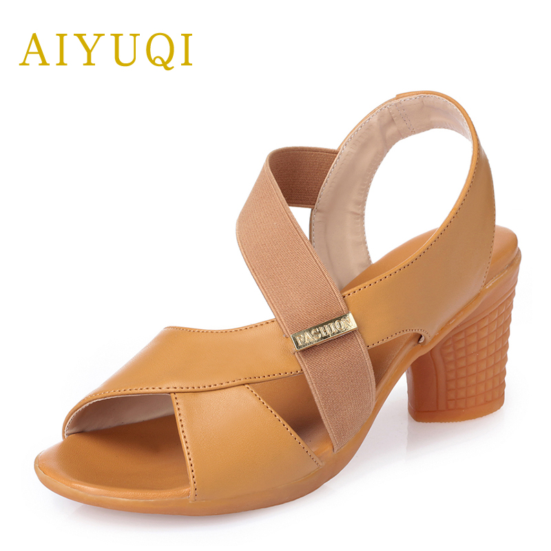 AIYUQI Large size 43# high heels women sandal, 2018 women's sandals genuine leather,platform open toe Roman sandals number 34 aiyuqi big size women shoe 41 42 43 2018 new women s sandals genuine leather casual comfort wedges open toe roman sandals female