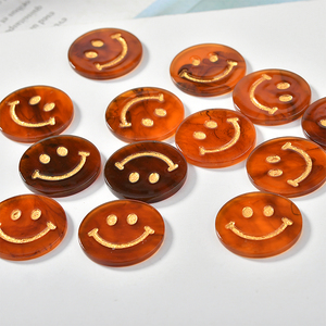 Image 1 - New style 30pcs/lot animals cartoon cat heads/rounds Smiley face shape acrylic beads diy jewelry earring/garment accessory