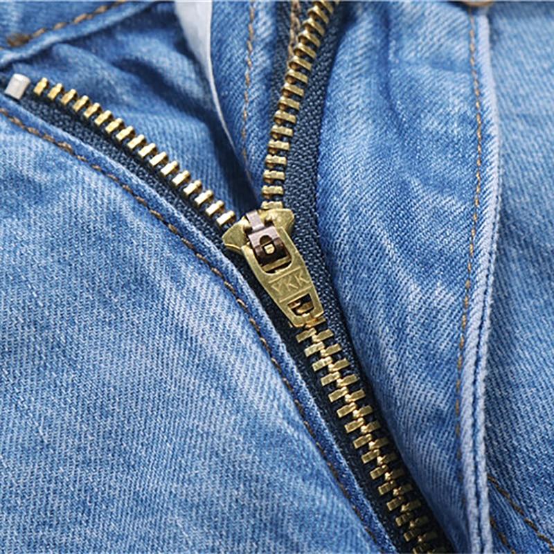 2018 Baru 100% Katun Musim Panas Tipis Keren Pria Jeans Baggy Biru - Pakaian Pria - Foto 5
