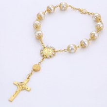 Religious Jewelry Catholic Cross Rosary Bracelet
