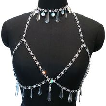 5b63ea43bbe3 Crystal Beaded Disco Exotic Tanks Crop Top Chain Sexy Tassel Choker Necklace  Rave Bra Festival Fashion Wear Party Jewelry CRS618