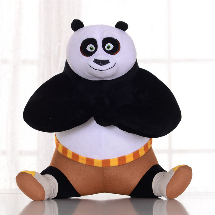 SAINTGI Kungfu Panda3 2016 New Movie Sweater Soft Stuffed Animals Plush Dolls 22cm 35cm 45cm Stand Sitting Gift Kids Kung Fu