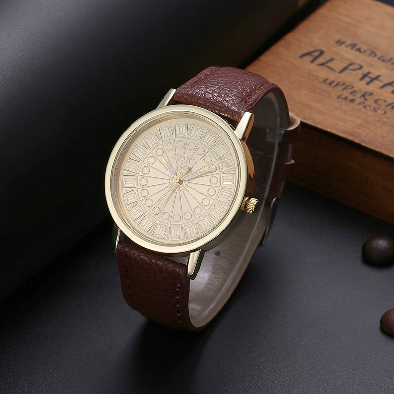 2019 New Fashion Roman Numerals Dial Watch Women SOXY Luxury Brand Watch Casual Leather Quartz Watch Hour Clock TME0035