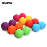 12.5*6.5CM Peanut Massage Ball Rubber Back Massage Ball Trigger Ponit Lacrosse Ball Body Massage& Fitness Exercise Balls