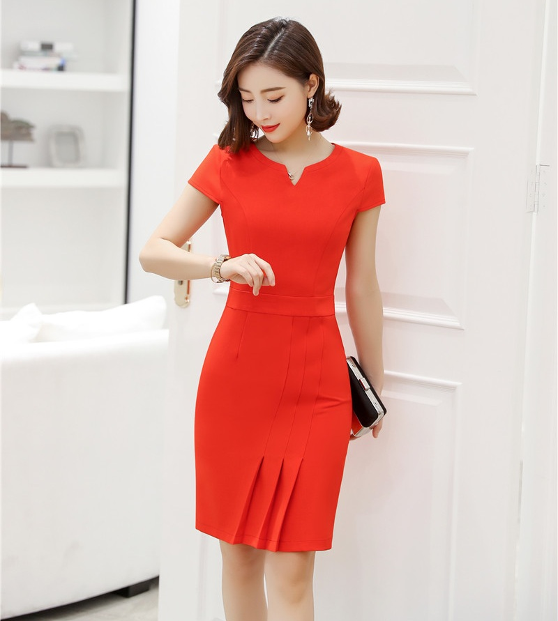 Summer Fashion Women Work Dresses Short
