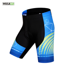WOSAWE Gel Padded Cycling Shorts Spandex Racing MTB Mountain Bike Summer Ciclismo Reflective Bicycle Short Pants Bermuda