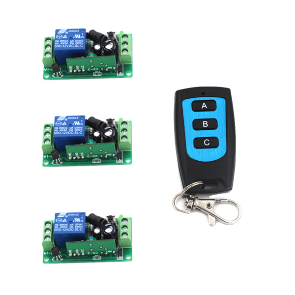 Top RF Wireless Remote Control Led Lights Switch 315/433mhz Outdoor Smart Home Automation Wireless Switch 1CH 3PCS Receiver dc 12v led display digital delay timer control switch module plc automation new