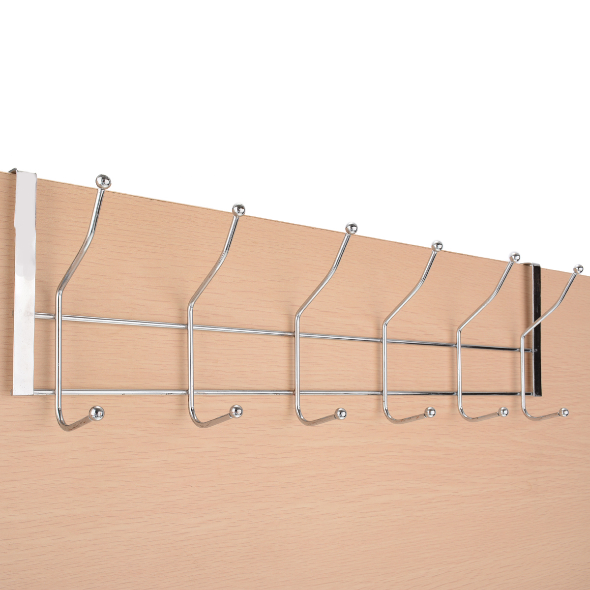 Over Door Hanger Coat Hat Clothes Bag Rack Wardrobe Wall Organizer 12 Hooks For Kitchen Room Storage Supplies