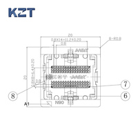 DDR2 0.8 60pin Burn in Test Socket Ball Pin Pitch 0.8mm DDR DIMM DRAM for DDR manufacturer
