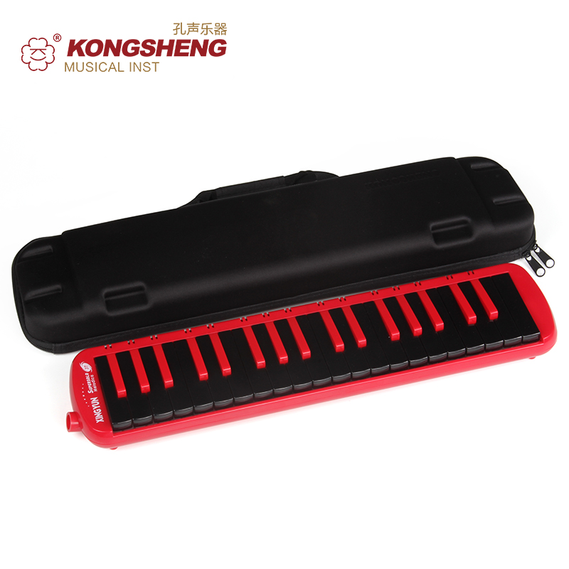KONGSHENG 37 Key Melodica High Quality F-37S Keyboard For Teaching (with Carrying Bag) Black Red Blue Musical Instruments