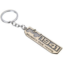 1941 75th Anniversary Willys Bronze Metal Key Chain Ring Pendant Keyfob For Jeep
