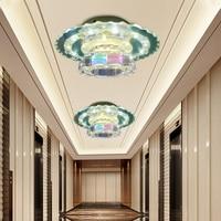 LAIMAIK AC 85 265V Modern Led Aisle Lights Crystal Lights 15W Surface Mounted Ceiling Light Hallway