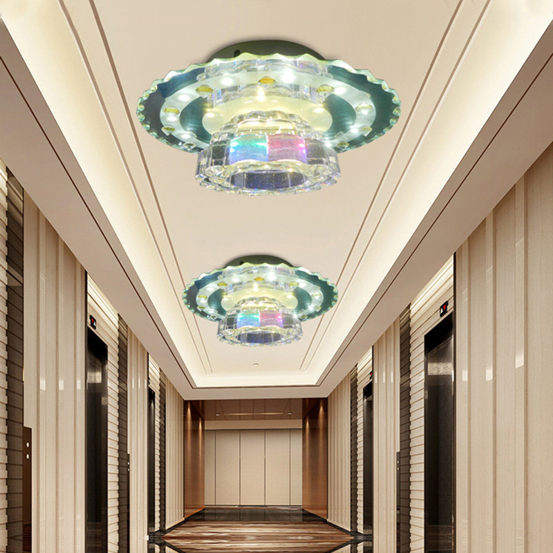 LAIMAIK AC 85-265V Modern led aisle lights crystal lights 15W surface mounted ceiling light hallway/hotel/living room lamps led цена
