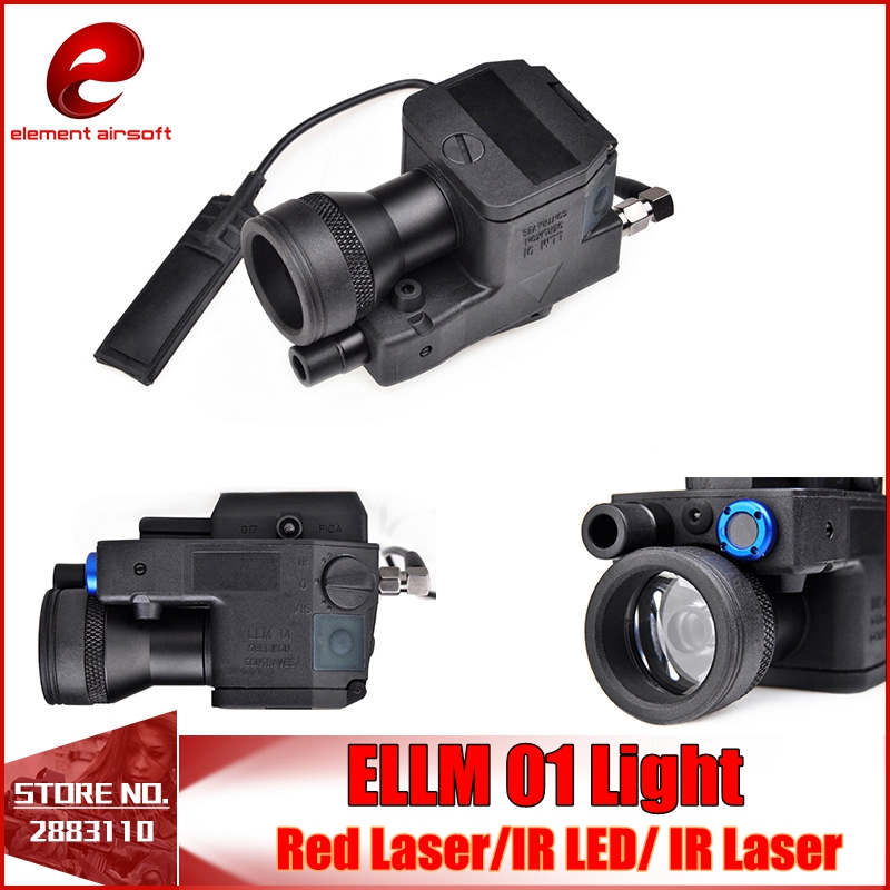 Element Airsoft eLLM01 Tactical Flashlight NEW VERSION Led Laser IR Infrared Military Led Light Rifle Fully Functional EX214 element ex276 peq15 battery case military high precision red dot laser integrated with led flashlight red laser and ir lens