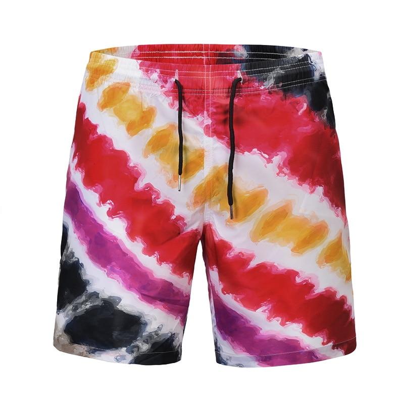 8506b0ff21 2018 Fashion Summer Men Women Graphic Boards Shorts Funny Men Colorful  Striped 3d Short Pants Harajuku Men Casual Beach Shorts