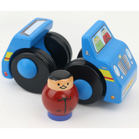 Chanycore 1pcs wind up toy funny baby Zoo Baby cartton car design Running Clockwork Spring Toy 2 color 5128