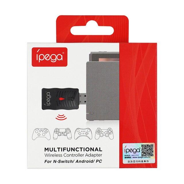 Receptor inalámbrico multifunción iPega PG-9132 Compatible con el controlador PS4/Wii U/Switch Pro para Nintend interruptor/Android/PC