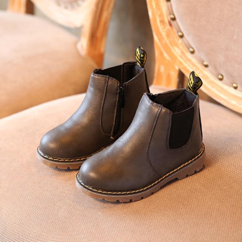 Musim dingin hangat anti slip anak-anak Martin boots / anak laki-laki - Sepatu anak anak