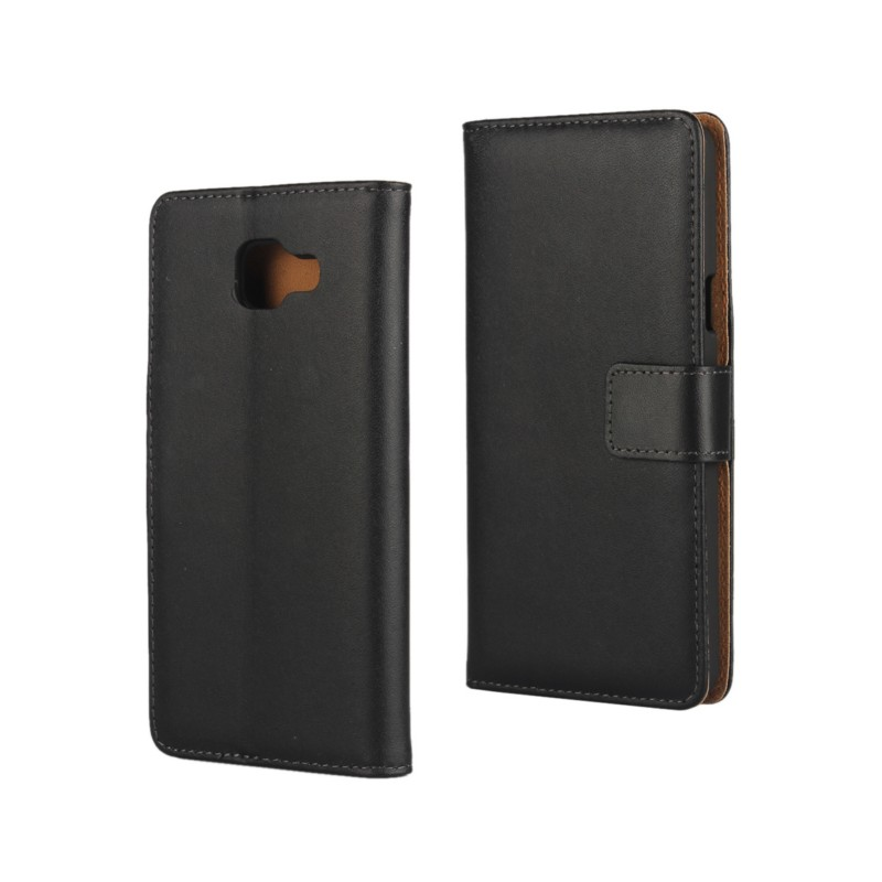 1PCS Genuine Leather Folding Book Style Stand Wallet Flip Case for Samsung Galaxy A5 2016/A7 2016 ID Card Holder