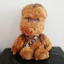 45CM Big Size Star Wars Chewbacca with Strap Plush Toys Stuffed Soft Doll for Kids Children Gifts