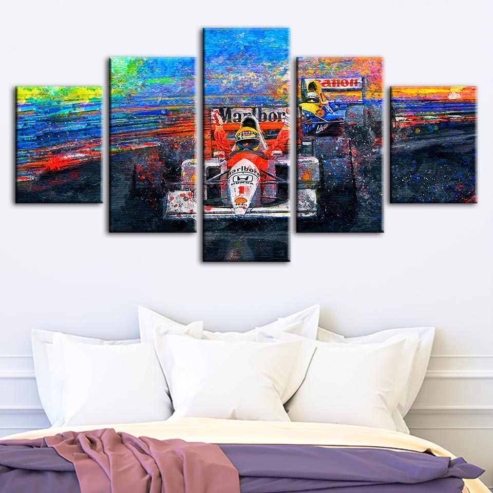 Modular Paintings Wall Artwork Home Decor Racing Car Canvas Pictures Prints Car Enthusiasts Poster Bedside Background Framework