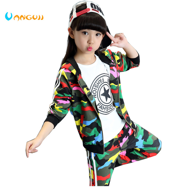 2017 Hot Children S Clothing Two Piece Sets 4 13 Year Old Girl Set