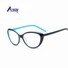 Aliway New Women's Fashion Cat Eye Optical Glasses Frame Vintage Women Reading Eyewear Eyeglasses Retro Myopia Eye Glasses Frame