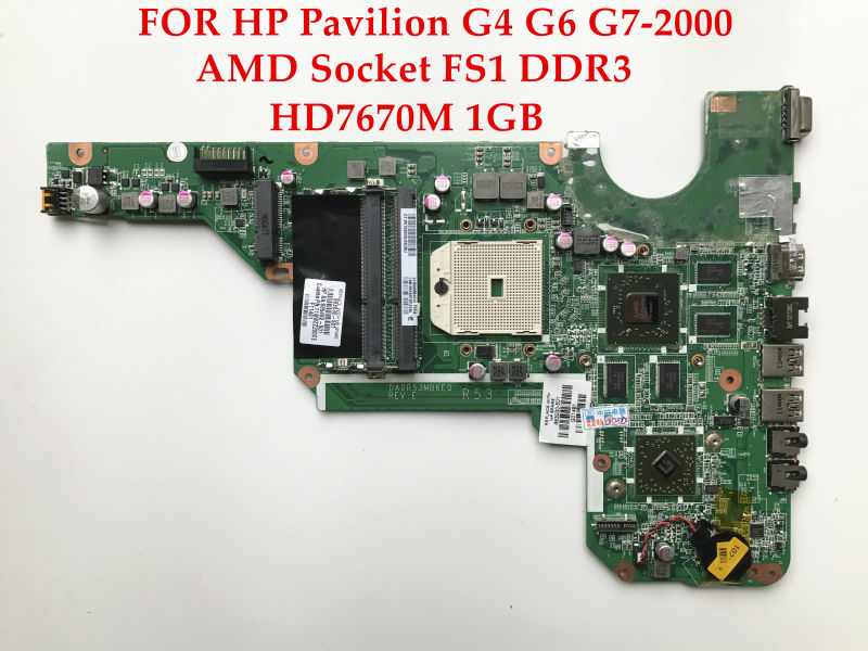 High quality Laptop motherboard for HP Pavilion G4 G6 G7-2000 683030-501 DA0R53MB6E0 R53 Socket FS1 DDR3 HD7670M 1GB Fully test