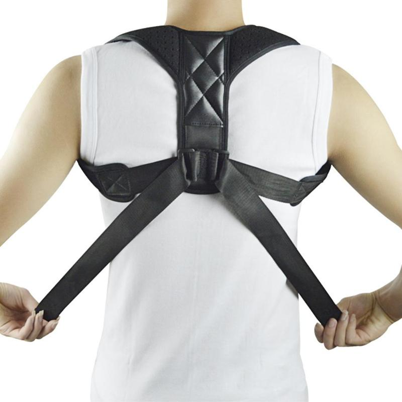Adjustable Therapy Posture Corrector Brace Shoulder Back Support Belt Clavicle Spine Lumbar Brace Support Belt Posture Correct 2 pieces magnet posture back shoulder corrector support brace magnetic therapy belt therapy adjustable length free shipping
