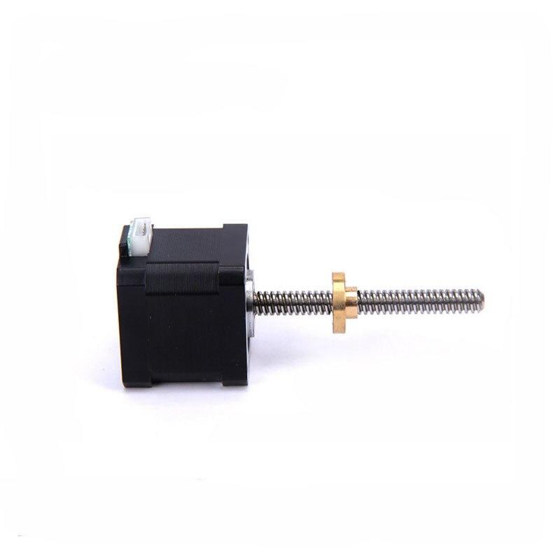 Pas à pas machines électriques haute 40 MM couple 0.5N.m fil machine longue 65 MM Match écrou micro pas à pas moteur pas à pas CNC 1-1000 tr/min